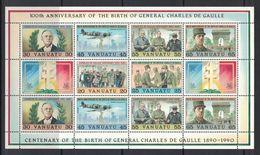 VANUATU - Bloc-feuillet YT N°17 GENERAL CHARLES De GAULLE Neuf ** - Vanuatu (1980-...)
