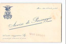 AG1623 AVVISO DI PASSAGGIO PESCE FABBRICA CAPPELLI MONZA - Visitekaartjes