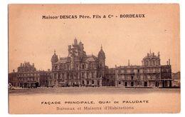 0810 - Bordeaux ( 33 ) - Maison Descas Père  Fils Et Cie - Quai De Paludate - - Bordeaux