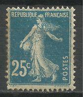 FRANCE , FRENCH , 25 Cts , Semeuse Fond Plein , Type I A , Voir Scans , 1907 , N° YT  140 - 1906-38 Semeuse Camée