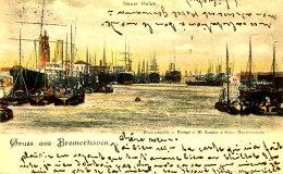 AJ 960 / CPA ALLEMAGNE - GRUSS AUS BREMERHOVEN NEUER HAFEN - Bremerhaven