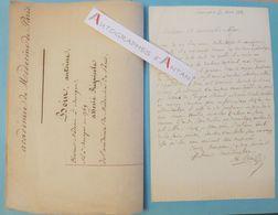 L.A.S 1839 Antoine BOIN Médecin & Politique Né à Bourges - Saint-Denis-de-Palin - Lettre Autographe Médecine Nièvre - Autographes