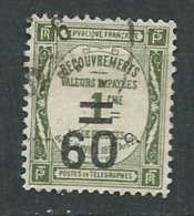 France  - Taxe   - Yvert N°  52  Oblitéré   -  Pa 11025 - Postage Due