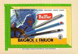 BUVARD : Baignol Et Farjon  Stylots Boulogne Sur Mer .Ref : 395 . 893 - Stationeries (flat Articles)