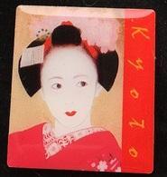 VISAGE D'UNE GEISHA - GEIKO - KYOTO - JAPAN - JAPON -                     (ROSE) - Celebrities
