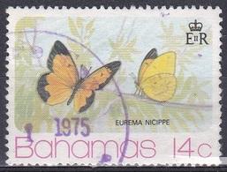 Bahamas 1975 Tiere Fauna Animals Schmetterlinge Butterflies Butterfly Insekten Insects Mariposa Papillion, Mi. 379 Gest. - Bahamas (1973-...)