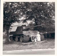 Foto Photo (9 X 9 Cm) Manhay Grandmenil German Mark V Pnther Tank - Manhay