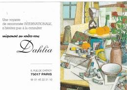 Vieux Papiers- Petits Calendriers De Poche -Une Voyante Dahlia 75 PARIS_ Voir Scan- Recto,Verso - - Calendriers