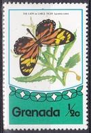 Grenada 1975 Tiere Fauna Animals Schmetterlinge Butterflies Butterfly Insekten Insects, Mi. 693 ** - Grenada (1974-...)