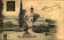 """1905, Picture Card Showing """"""""St. Louis - Vue Prise De La Mairie"""""""".Sent Ot Marseille. - Réunion (1852-1975)"""