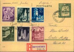 1941, Dekorative R-Karte Ab WARSCHAU (ohne Text) - Besetzungen 1938-45