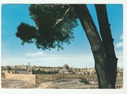 1960s  ISRAEL Postcard Panorama JERUSALEM  To GB Stamps Cover - Israel
