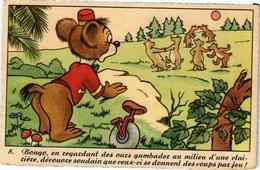 CPA - Nr 8 - BONGO Ours De Cirque (Bongo The Circus Bear) - Serie Edition Superluxe - Walt DISNEY - Paris - Disneyland