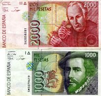 1000 + 2000 Spanische Pesetas - [ 4] 1975-… : Juan Carlos I