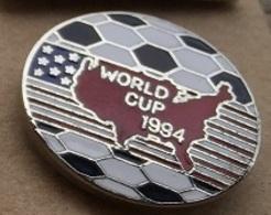 WORLD CUP USA 94 - FOOTBALL - SOCCER - COUPE DU MONDE 94 - CARTE DE L'AMERIQUE - BALLON - FOOT -      (ROSE) - Football
