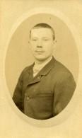 Belgique Ypres Homme Portrait Ancienne Photo CDV Duhameeuw 1890' - Photographs