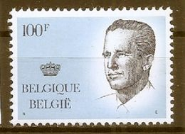 BELGIE * Nr 2137 * Postfris Xx * WIT PAPIER - GELE GOM - 1981-1990 Velghe