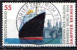 """GERMANIA - 2004 - RECORD DI VELOCITA' DEL PIROSCAFO """"BREMEN"""" - USATO - Oblitérés"""