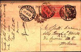 87178) Italia-intero  Postale 40 C.michetti+70c. Floreale Espresso Da Genova A Milano Il 13/10/25 - 1900-44 Vittorio Emanuele III