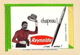 BUVARD : Grand Format Reynolds Stylo  Chapeau - Stationeries (flat Articles)