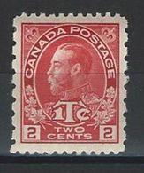 Canada SG 235, Sc MR5, Mi 102bc * MH - 1911-1935 Règne De George V