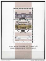 A00-20) BRD - Michel Block 20 = 1287 / 1289 - 53 ESST OO Gestempelt (A) - Gebäude Der Geschichte Der BRD - Gebraucht