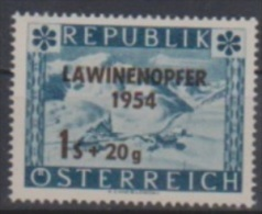 """Österreich 1954:  """"Lawinenopfer"""" Nr.1007 Postfrisch (siehe Foto/Scan) - 1945-.... 2nd Republic"""
