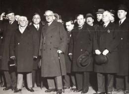 Paris Gare Du Nord Paul-Boncour Et Ramsay MacDonald Ancienne Photo Meurisse 1930's - Famous People