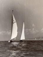 France Nice? Course? De Voiliers Cote D'Azur Ancienne Photo Paul Louis 1950's - Boats