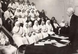 Paris Hopital Saint Antoine Remise De Decorations Aux Infirmieres Ancienne Photo Meurisse 1930's - Professions