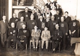 Paris Heros De La Mer A La Sorbonne Groupe De Sauveteurs Ancienne Photo Meurisse 1931 - Professions