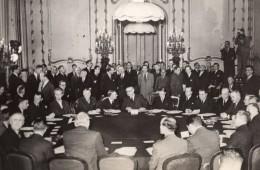 Londres Conference Des 5 Ernest Bevin Molotov Bidault Ancienne Photo De Presse 1945 - Famous People