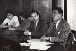 Paris Conference De Presse CGT Congres Des Syndicats Saillant Ancienne Photo De Presse 1945 - Professions
