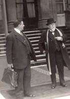 Paris Sortie Du Conseil Des Ministres Herriot Et Cheron Ancienne Photo Meurisse 1930's - Famous People
