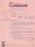 MAROC/MAROKKO :1964: Lettre De ## CHIMICOLOR, Rond-Point Denoueix, CASABLANCA ## Aux #Ets. BECKER Fils & Cie, BELGIQUE# - Autres