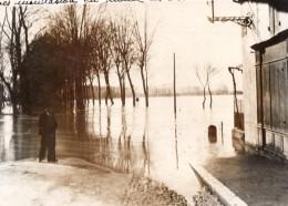 Gironde Saint Macaire Inondations De La Garonne Ancienne Photo Meurisse 1936 - Orte