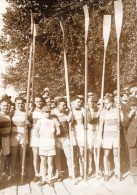 Sport Aviron Equipe Gagnante Rowing Marne Rames Ancienne Photo Meurisse 1931 - Sports