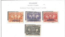 Ecuador PA 1936 Geodesical Mission .Scott.C39/42+ See Scans On Scott.Page - Ecuador