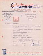 MAROC/MAROKKO:1958:Lettre De ## CHIMICOLOR, Rond-Point Denoueix, CASABLANCA ## Aux ##Ets. BECKER Fils & Cie,BELGIQUE## - Factures & Documents Commerciaux