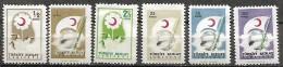 Turquie Turkey  1957 Pour Croissant-Rouge Timbres Bienfaisance, 6 Val Mnh Série Incomplete - Türkei