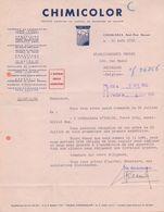 MAROC/MAROKKO:1956:Lettre De ## CHIMICOLOR, Rond-Point Denoueix, CASABLANCA ## Aux ## Ets. BECKER, Rue Masui, 220, BR.## - Autres
