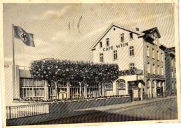 Giessen, Cafe Wien Mit Flagge, Feldpostkarte 1942, - Selten ! - - Giessen