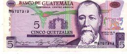 Guatemala P.60b 5 Queztal 1975 Xf - Guatemala