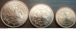 Eurocoins Lithuania 1 2 5 Cents 2015 UNC / BU (3 Coins) - Lituania