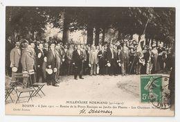 76 Rouen. Millénaire Normand 1911. Remise De La Pierre Runique Au Jardin Des Plantes, Chanteurs Norvégiens (A1P17) - Rouen