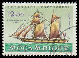 "Mozambique Scott # 451, 12.50e Multicolored (1963) Sailing Ship Series (Schooner ""Maria Teresa"" 1820), Used - Mozambique"
