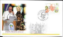 PAPA FRANCESCO ALLA GIORNATA MONDIALE DELLA GIOVENTU FDC BRASIL BRESIL BRAZIL AÑO 2013 - Pausen