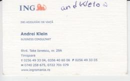 ING Bank  - Visiting Card, Carte De Visite - Cartes De Visite