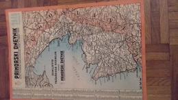 1803 SLOVENIJA    ISTRA   ZELJEVID  TRŽAŠKO  OZEMLJE  1949   ---42 X 30  CM - Carte Geographique