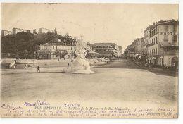 S6950 - Philippeville -La Place De La Marine Et La Rue Nationale - Constantine